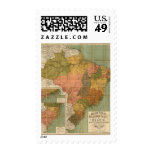 Mapa del Brasil Timbres Postales
