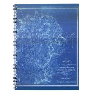 Mapa del campo de batalla de Antietam (1898) Libros De Apuntes