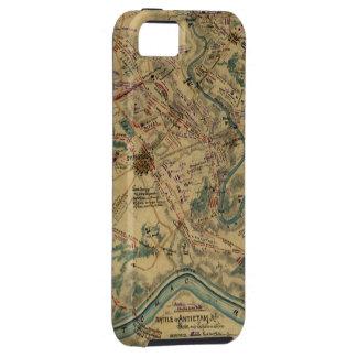 Mapa del campo de batalla de Antietam del vintage iPhone 5 Funda