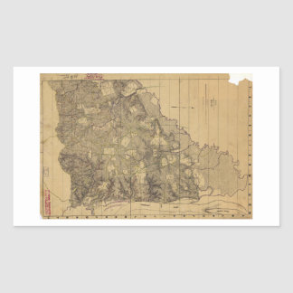 Mapa del campo de batalla de Shiloh el 6 de abril Rectangular Altavoces