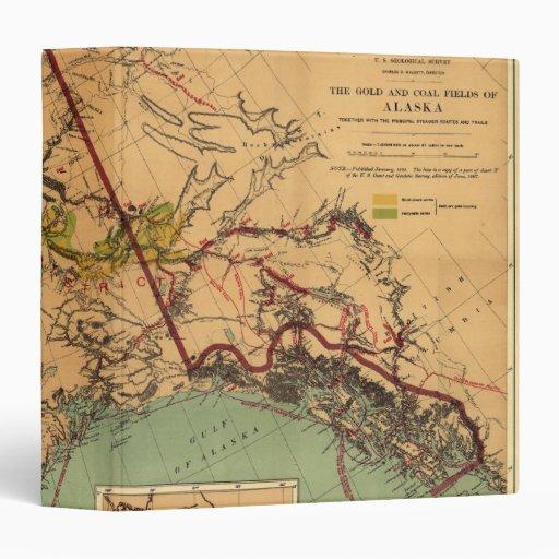 """Mapa del carbón y del oro de Alaska Carpeta 1 1/2"""""""