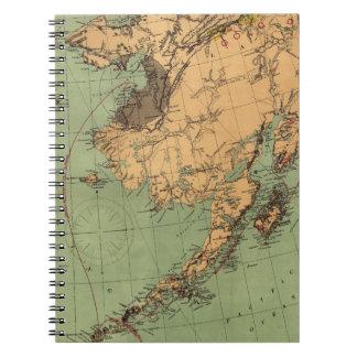 Mapa del carbón y del oro de Alaska Spiral Notebooks