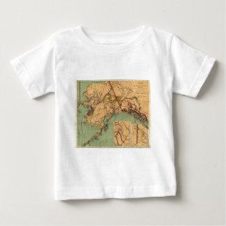 Mapa del carbón y del oro de Alaska Tee Shirts