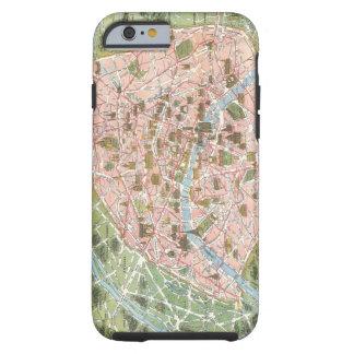 Mapa del caso del iPhone 6 de París Funda Para iPhone 6 Tough