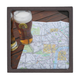Mapa del centro de ciudad de Londres Cajas De Regalo De Calidad