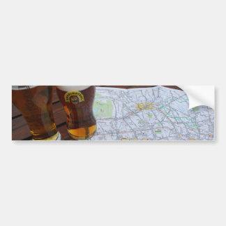 Mapa del centro de ciudad de Londres Pegatina De Parachoque