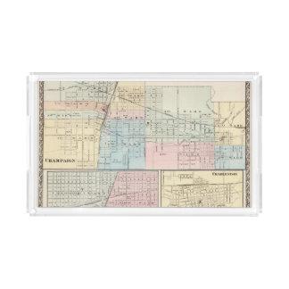 Mapa del chamán, de Urbana, de Mattoon y de Bandeja Rectangular