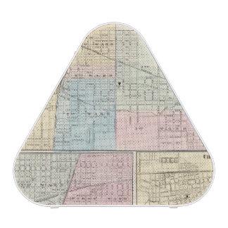 Mapa del chamán, de Urbana, de Mattoon y de Charle Altavoz