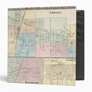 """Mapa del chamán, de Urbana, de Mattoon y de Charle Carpeta 1 1/2"""""""