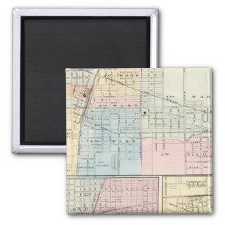 Mapa del chamán, de Urbana, de Mattoon y de Charle Imanes De Nevera