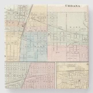 Mapa del chamán, de Urbana, de Mattoon y de Charle Posavasos De Piedra