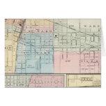 Mapa del chamán, de Urbana, de Mattoon y de Charle Tarjeta