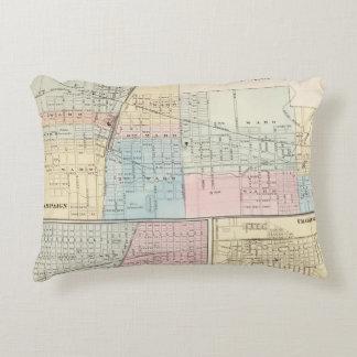 Mapa del chamán, de Urbana, de Mattoon y de Cojín Decorativo