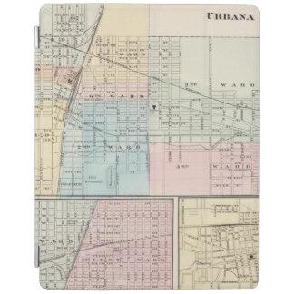 Mapa del chamán, de Urbana, de Mattoon y de Cover De iPad