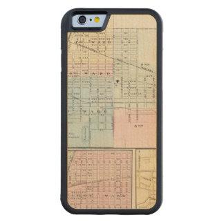 Mapa del chamán, de Urbana, de Mattoon y de Funda De iPhone 6 Bumper Arce