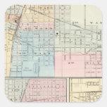 Mapa del chamán, de Urbana, de Mattoon y de Pegatina Cuadrada