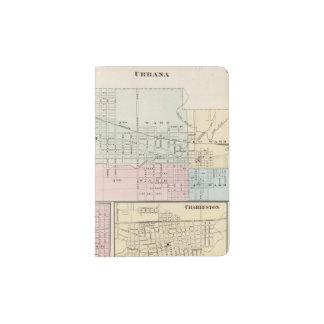 Mapa del chamán, de Urbana, de Mattoon y de Porta Pasaporte