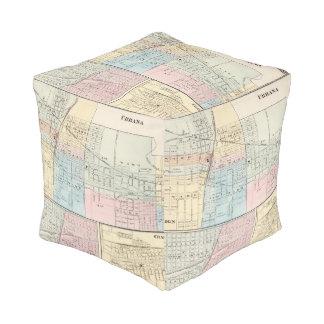 Mapa del chamán, de Urbana, de Mattoon y de Puff Cuadrado