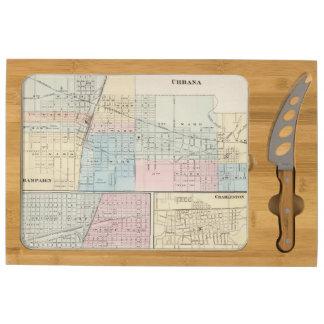 Mapa del chamán, de Urbana, de Mattoon y de