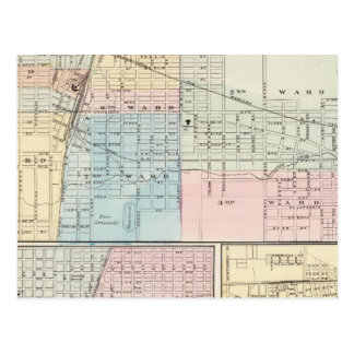 Mapa del chamán, de Urbana, de Mattoon y de Tarjeta Postal