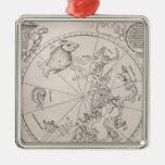 Mapa del cielo meridional ornaments para arbol de navidad