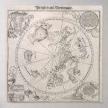 Mapa del cielo meridional poster