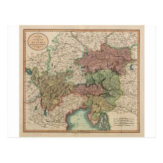 Mapa del círculo de Austria en 1801 por Juan Cary Postal