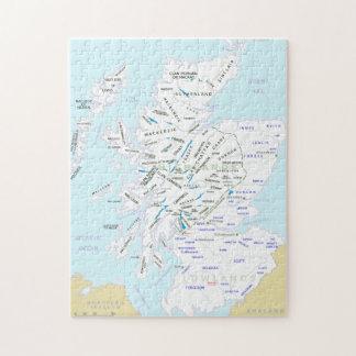 Mapa del clan del rompecabezas de Escocia