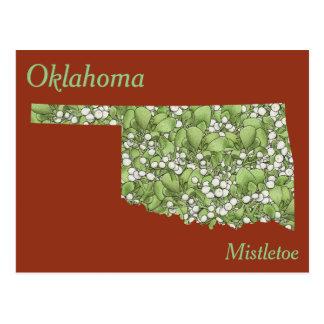 Mapa del collage de la flor de estado de Oklahoma Tarjetas Postales