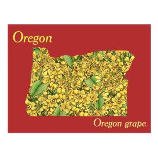 Mapa del collage de la flor de estado de Oregon Postal