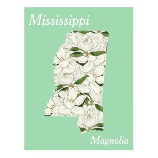 Mapa del collage de la flor de estado de postal