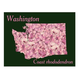 Mapa del collage de la flor de estado de tarjeta postal
