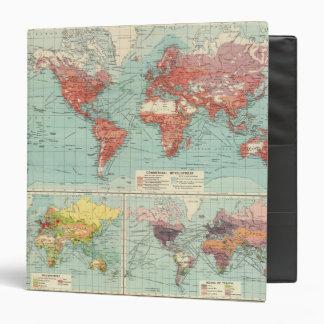 "Mapa del comercio del mundo carpeta 1 1/2"""