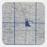 Mapa del condado de Adams Calcomanías Cuadradass