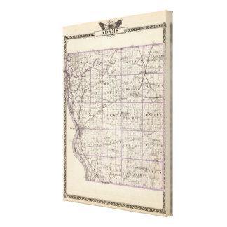 Mapa del condado de Adams Lienzo Envuelto Para Galerias