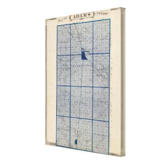 Mapa del condado de Adams Lona Estirada Galerías