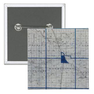 Mapa del condado de Adams Pin Cuadrada 5 Cm