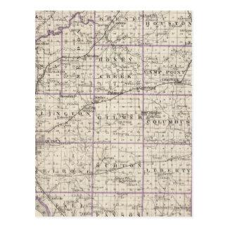 Mapa del condado de Adams Postales