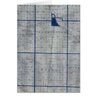 Mapa del condado de Adams Tarjeta De Felicitación