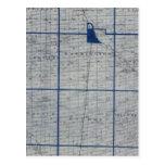 Mapa del condado de Adams Tarjeta Postal