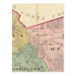 Mapa del condado de Alameda Tarjetas Postales