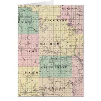 Mapa del condado de Barron, estado de Wisconsin Felicitacion