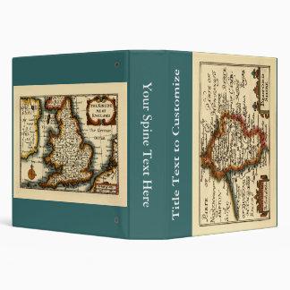 """Mapa del condado de Bedfordshire, Inglaterra Carpeta 1 1/2"""""""