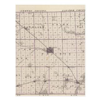 Mapa del condado de Benton Tarjetas Postales