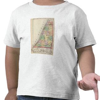 Mapa del condado de Berrien, Michigan Camisetas