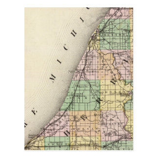Mapa del condado de Berrien, Michigan Tarjeta Postal