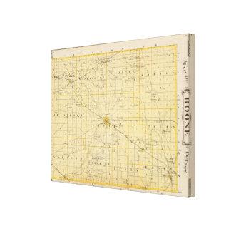 Mapa del condado de Boone Impresión De Lienzo