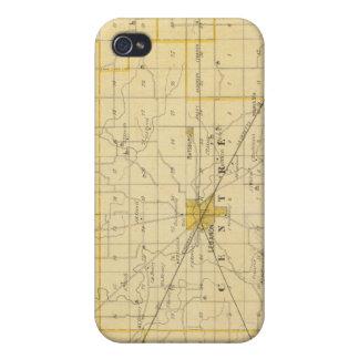Mapa del condado de Boone iPhone 4/4S Carcasas