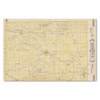 Mapa del condado de Boone Papel De Seda Pequeño