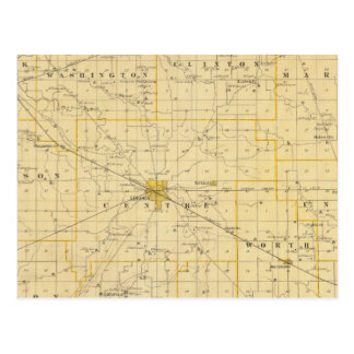Mapa del condado de Boone Postales